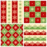 Cuatro modelos inconsútiles de la Navidad Fotografía de archivo
