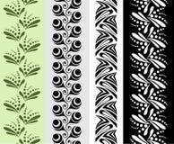 Cuatro modelos ornamentales inconsútiles Imágenes de archivo libres de regalías