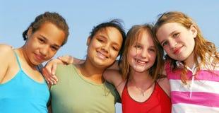 Cuatro muchachas Imagenes de archivo