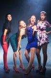 Cuatro mujeres en un partido Fotos de archivo libres de regalías