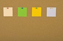 Cuatro notas en blanco Fotos de archivo