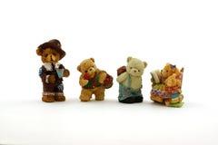Cuatro osos miniatura foto de archivo