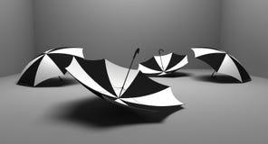 Cuatro paraguas Ilustración del Vector