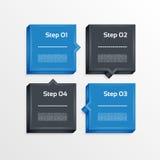 Cuatro pasos procesan las flechas - elemento del diseño Vector Imagen de archivo libre de regalías