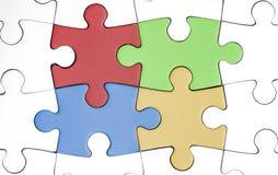 Cuatro pedazos coloreados Imagen de archivo libre de regalías