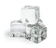 Cuatro pedazos de cubos de hielo Fotos de archivo libres de regalías