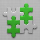 Cuatro pedazos del rompecabezas ilustración del vector