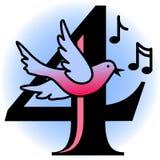 Cuatro pájaros de llamada/EPS Foto de archivo libre de regalías