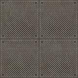 Cuatro placas de metal fotografía de archivo libre de regalías