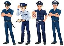 Cuatro policías stock de ilustración