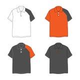 Cuatro polo-camisas Imágenes de archivo libres de regalías