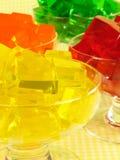Cuatro postres de gelatina imagenes de archivo