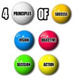 Cuatro principios de éxito Foto de archivo libre de regalías