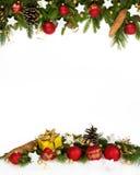 Cuatro-quintos del marco de la Navidad Fotos de archivo