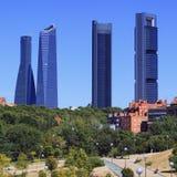Cuatro rascacielos modernos Fotografía de archivo libre de regalías