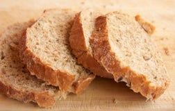 Cuatro rebanadas de pan Fotografía de archivo libre de regalías