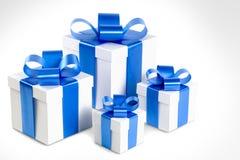 Cuatro rectángulos de regalo Foto de archivo libre de regalías