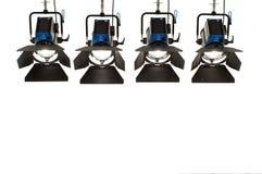 Cuatro reflectores. Foto de archivo libre de regalías