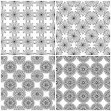 Cuatro rejillas florales inconsútiles libre illustration