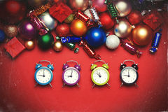 Cuatro relojes Imágenes de archivo libres de regalías