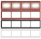 Cuatro representaciones de una película Fotos de archivo libres de regalías