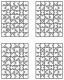 Cuatro rompecabezas blancos Imagen de archivo libre de regalías