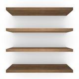Cuatro shelfs de madera foto de archivo libre de regalías