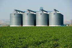 Cuatro silos Foto de archivo libre de regalías