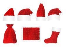 Cuatro sombreros rojos. stock de ilustración