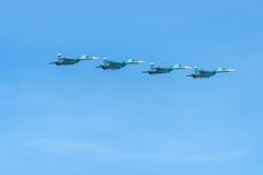 Cuatro Su-34 Fotografía de archivo libre de regalías