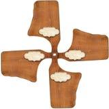 Cuatro tablas de cortar - plantilla del menú Foto de archivo libre de regalías