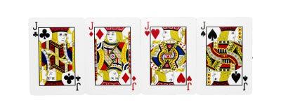 Cuatro tarjetas de Jack Fotografía de archivo