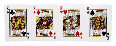 Cuatro tarjetas de rey Imagen de archivo libre de regalías