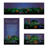 Cuatro tarjetas mágicas con el ornamento floral libre illustration