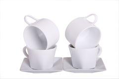 Cuatro tazas de café Foto de archivo libre de regalías