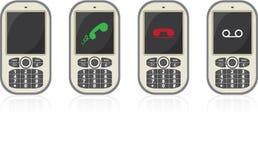 Cuatro teléfonos celulares del vector stock de ilustración
