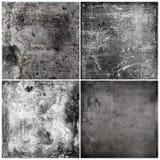 Cuatro texturas del grunge Fotos de archivo libres de regalías