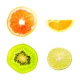 Cuatro tipos de fruta Imagenes de archivo