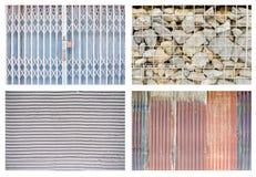 Cuatro tipos de pared imagen de archivo libre de regalías