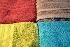 Cuatro toallas coloridas Fotografía de archivo libre de regalías
