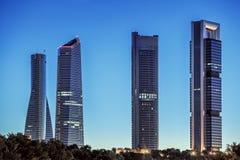Cuatro torres Imágenes de archivo libres de regalías