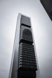 Cuatro Torres Business Area (CTBA) building skyscraper, in Madri stock image
