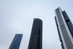 Cuatro Torres Business Area (CTBA) building skyscrapers, in Madr stock photo