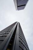 Cuatro Torres Business Area (CTBA) building skyscrapers, in Madr stock images