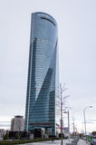 Cuatro Torres Business Area (CTBA) building skyscrapers, in Madr Stock Photos