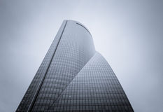 Cuatro Torres Business Area (CTBA) building skyscrapers, in Madr royalty free stock photo