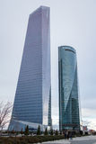 Cuatro Torres Business Area (CTBA) building skyscrapers, in Madr Stock Photo