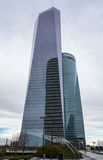Cuatro Torres Business Area (CTBA) building skyscrapers, in Madr Stock Photography