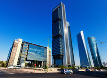 Cuatro Torres Business Area. Madrid Royalty Free Stock Photography