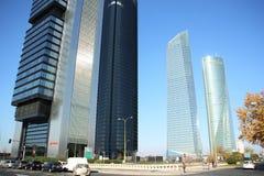 Cuatro Torres Business Area in Madrid, Spain Stock Images